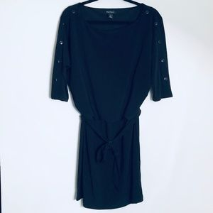White House Black Market | Blouson Tie Waist Dress